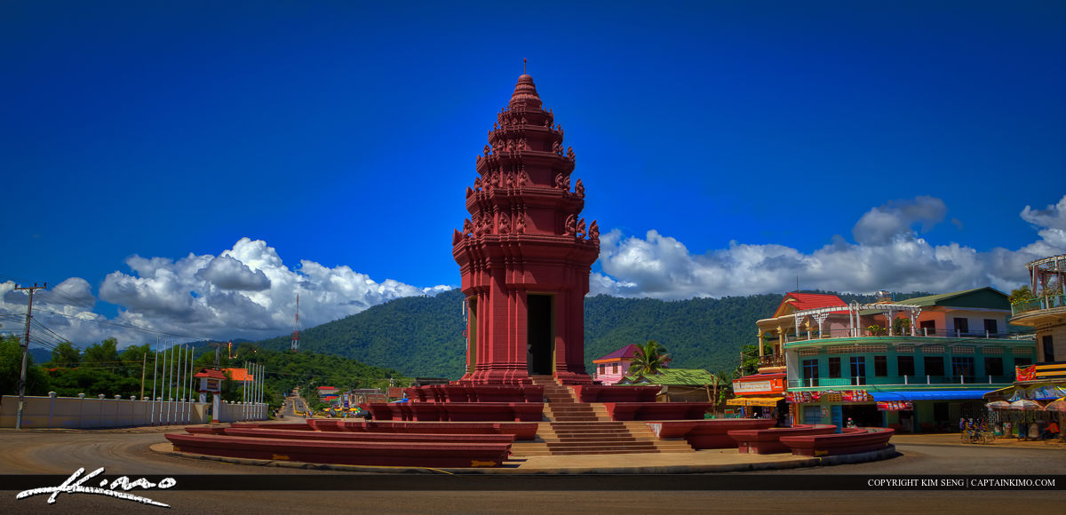 Wat Structure in Town Center Pailin Cambodia