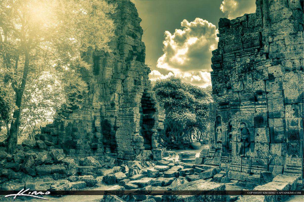 Temple Ruins Phnom Banan Battambang Cambodia