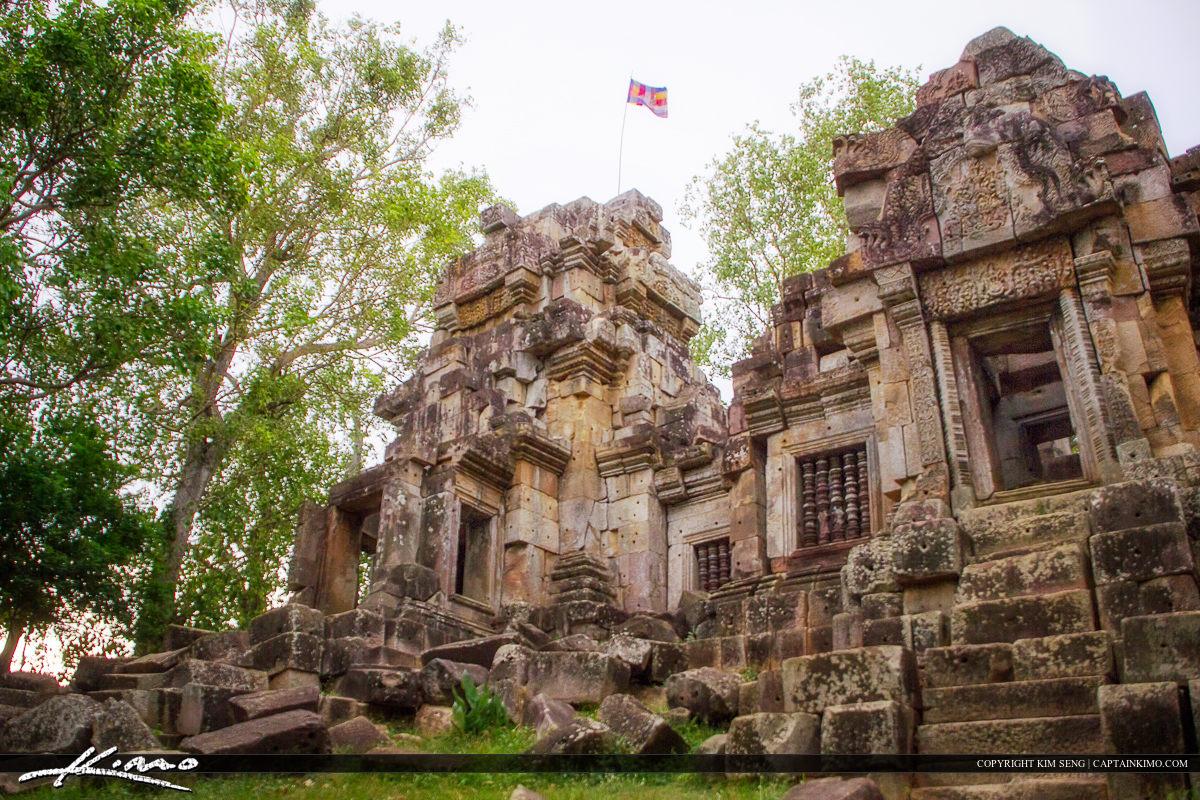 Wat Ek Phnom Temple Ruin at Battambang Cambodia