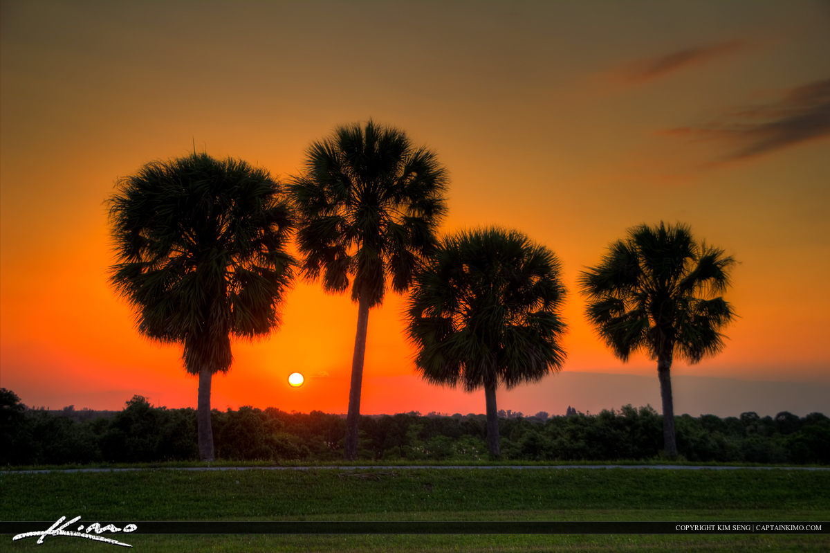 Sunset Over Palm Beach County from Dyer Park