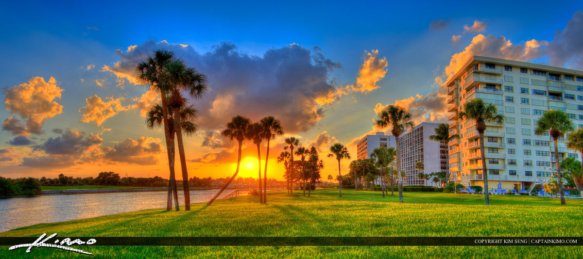 North Palm Beach Florida Sunset by the Waterway