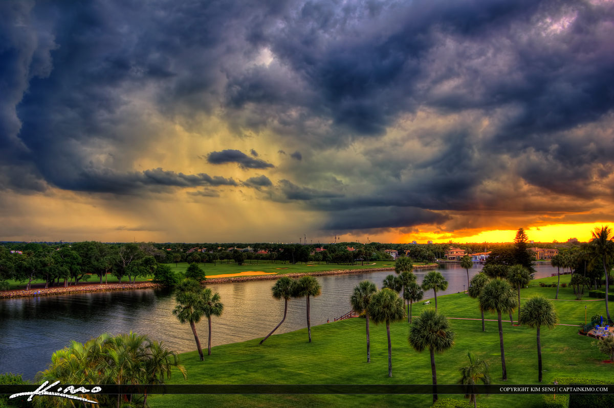 Sunset at North Palm Beach During an Incoming Storm