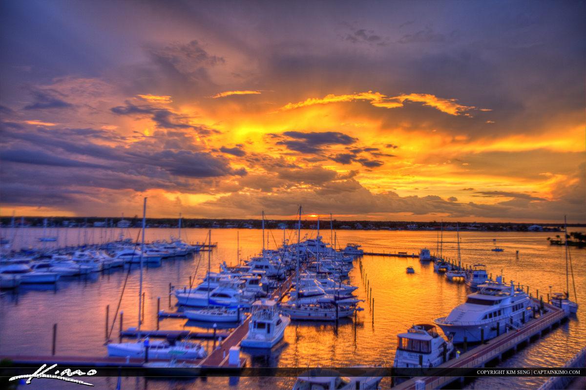 Sunset Over Marina from the Roosevelt Bridge