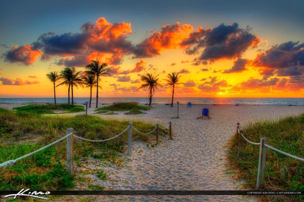 Sunrise at Beach on Singer Island Florida