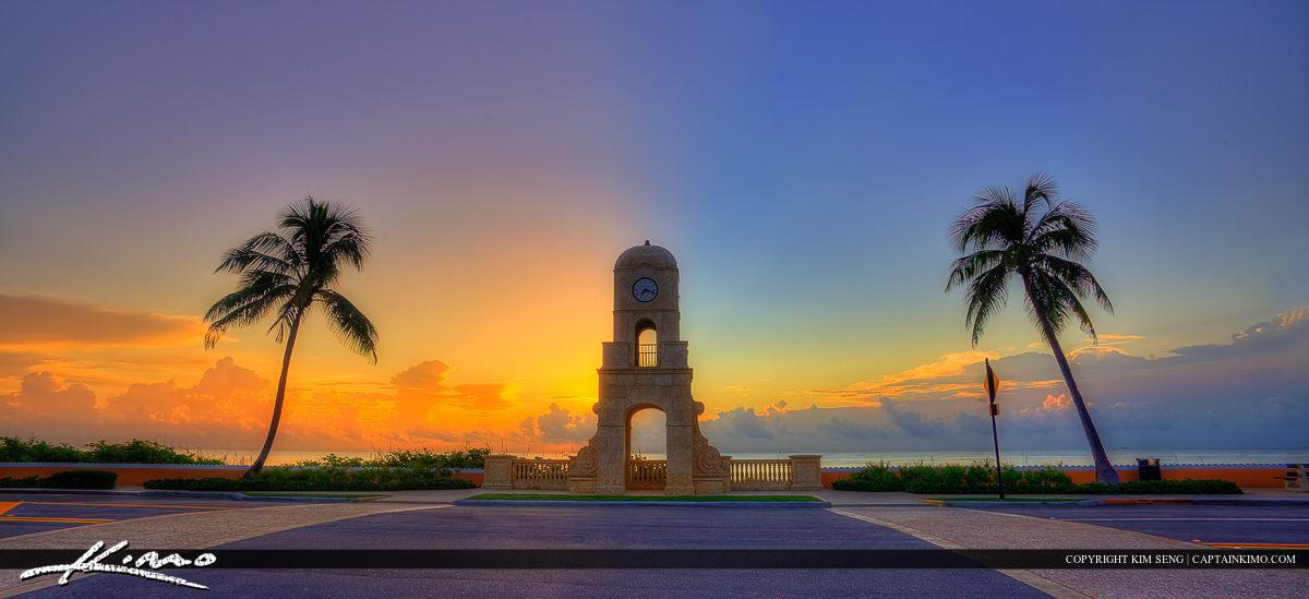 Worth Avenue Sunrise at Clock Tower Palm Beach Island Florida