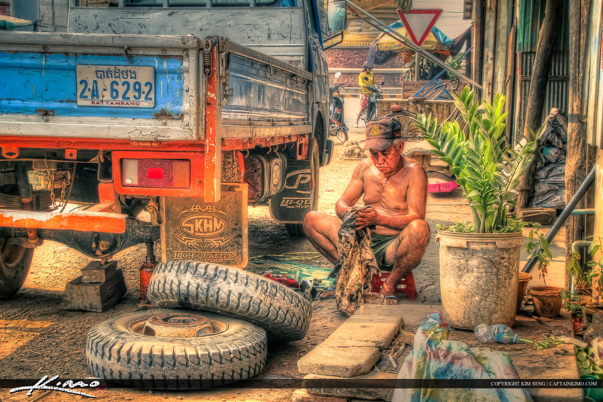 Neighborhood Mechanic at Battambang Cambodia
