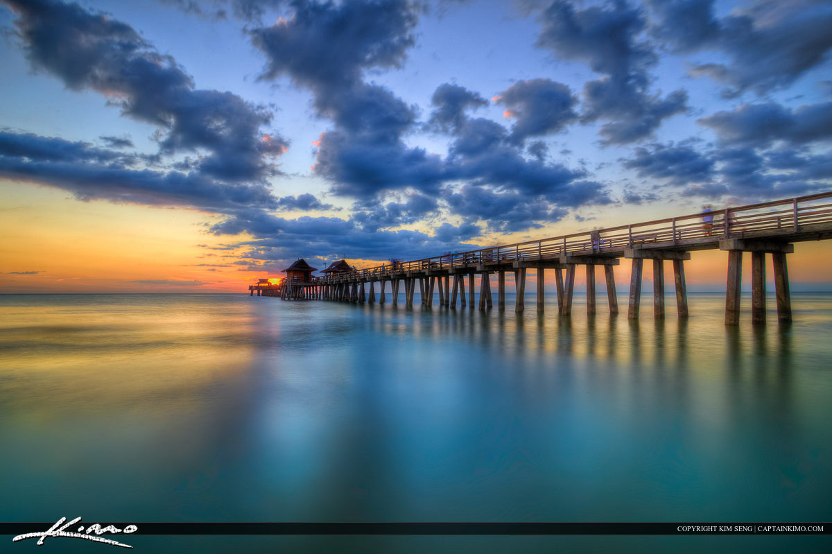 Naples Pier Sunset at Florida Gulf Coast
