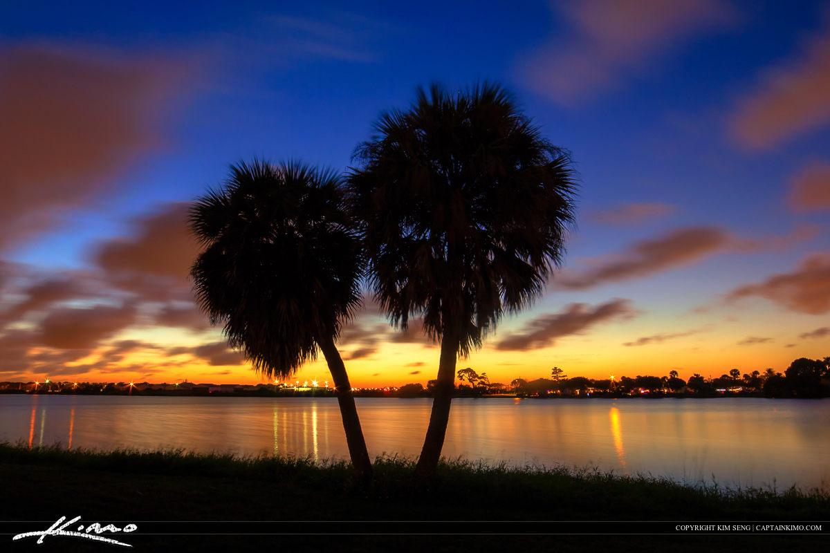 Lake Osborne Sunset at Lake Worth Florida