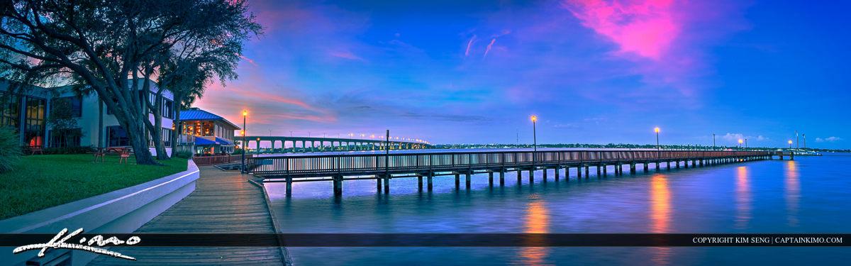 Boardwalk after Sundown Stuart City Florida