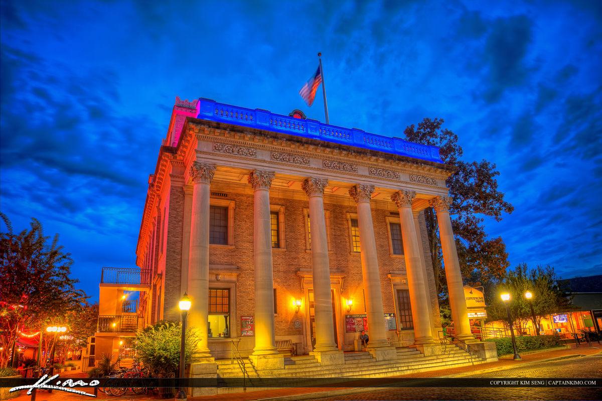 Hippodrome State Theatre Gainesville Florida at Night