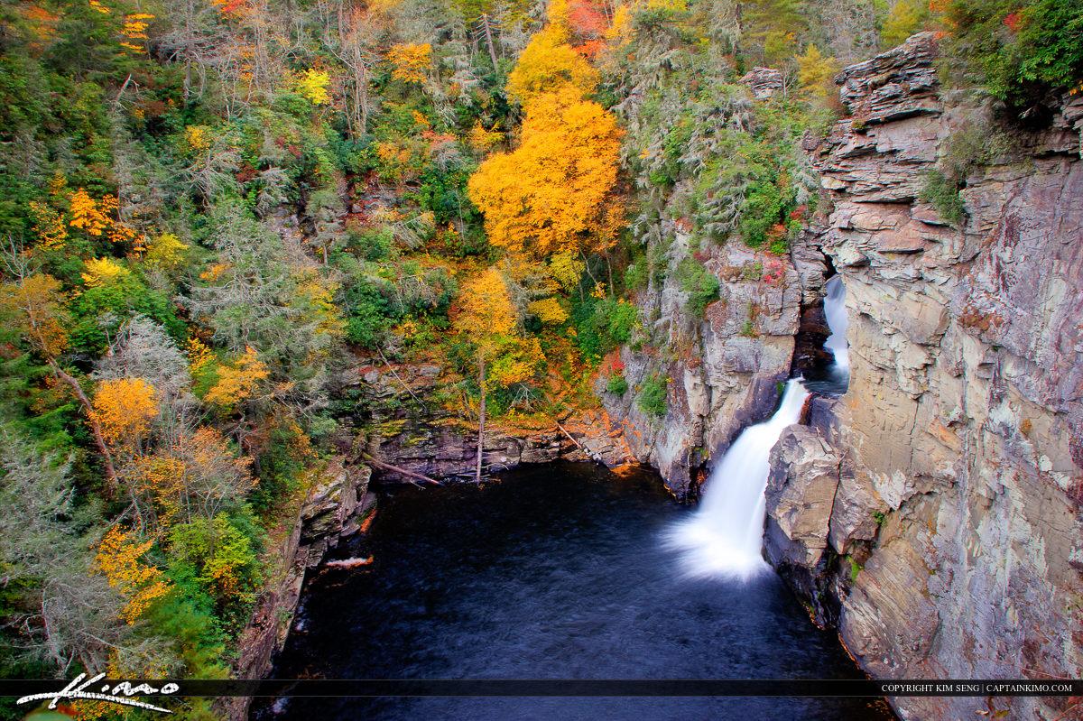Linville Falls High Above the Waterfall North Carolina