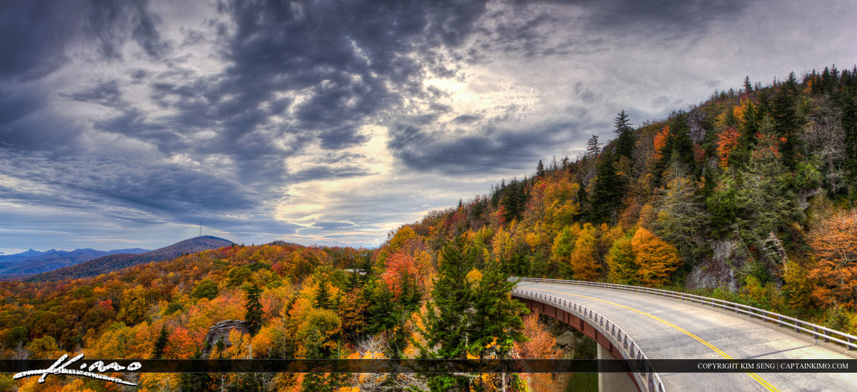 Linn Cove Viaduct Blue Ridge Parkway North Carolina