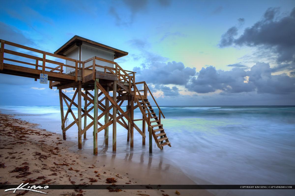 Lantana Lifeguard Tower at the Beach