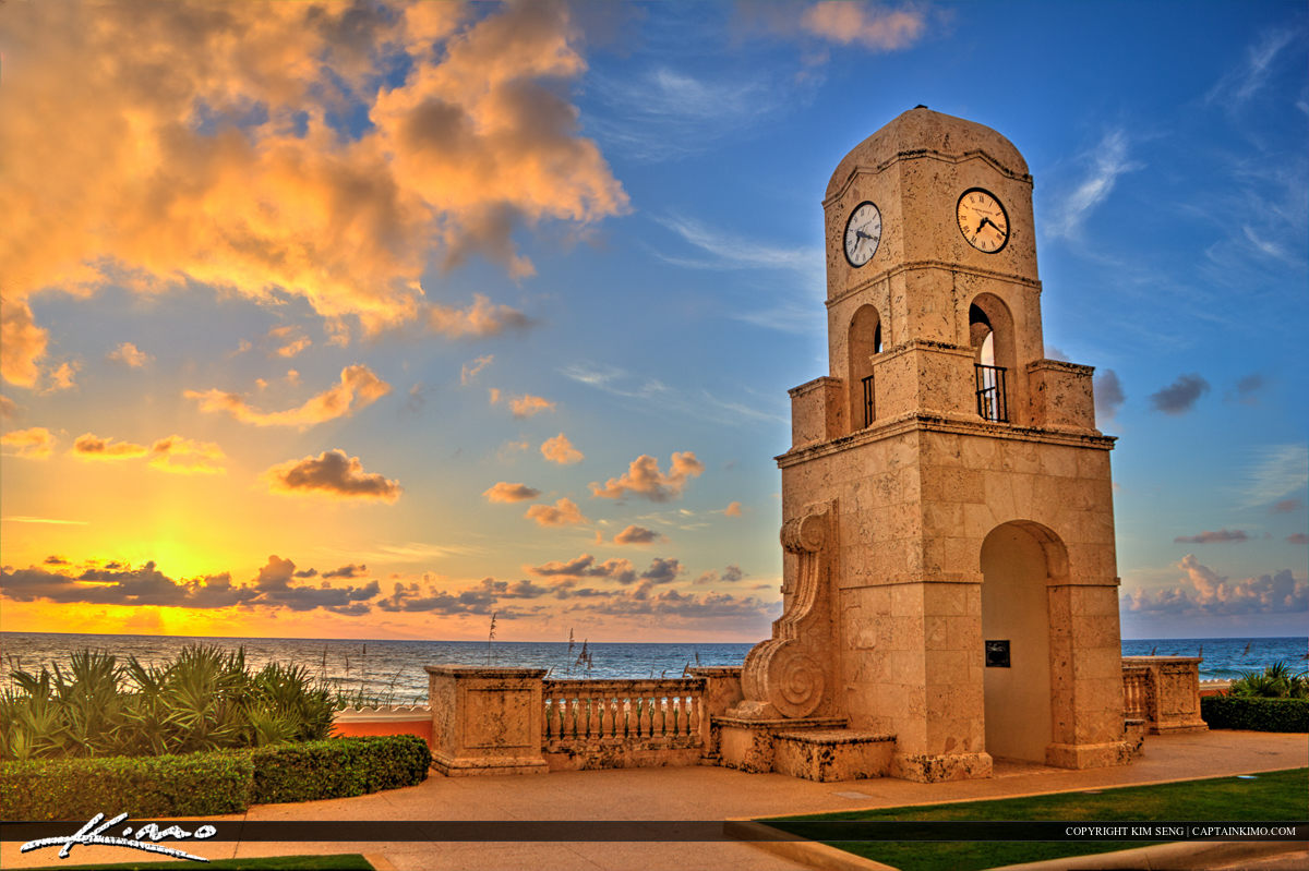 Clock Tower at Palm Beach Island Worth Avenue