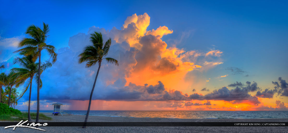 Fort Lauderdale Beach Park Sunrise Panorama