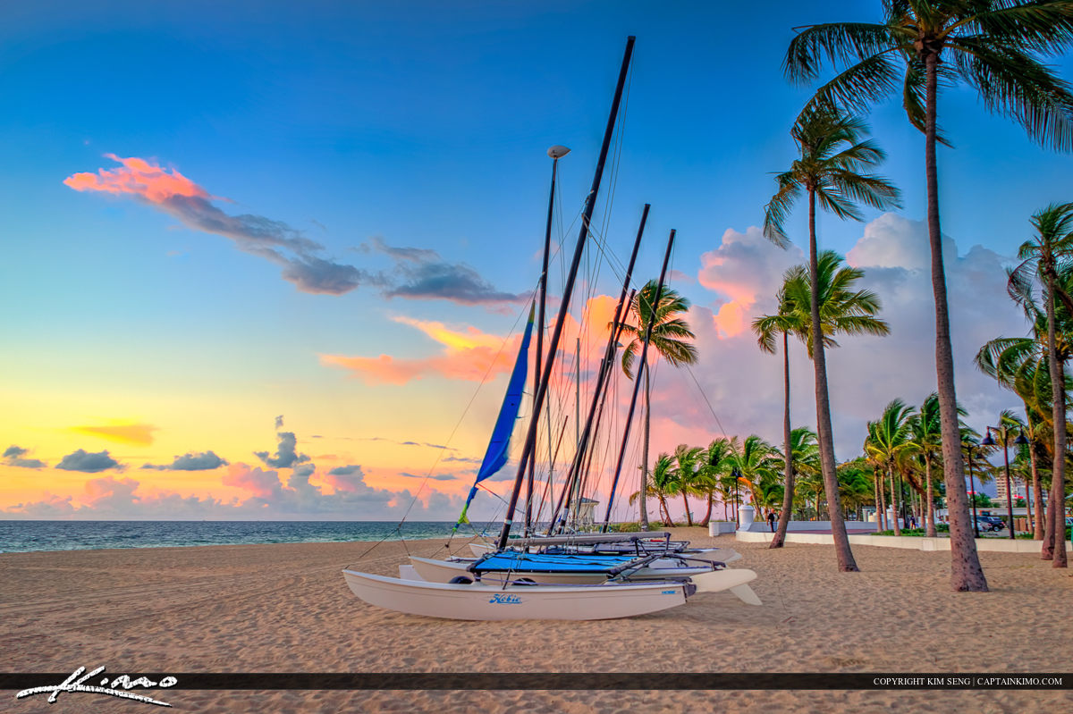 Fort Lauderdale Sailboat at Beach Park