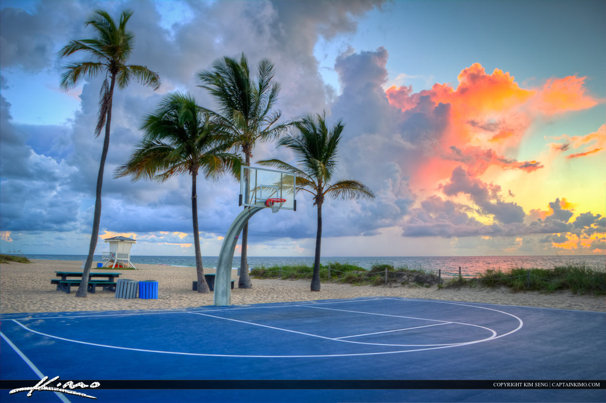 Basketball Court at Beach Fort Lauderdale Beach Park