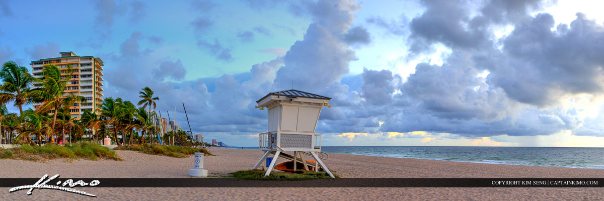 Fort Lauderdale Before Sunrise at Beach