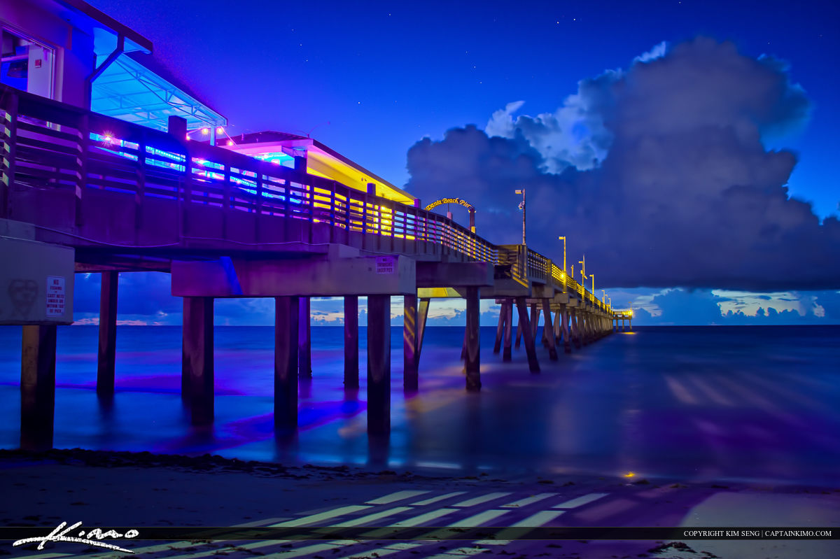 Dania Beach Fishing Pier Nighttime