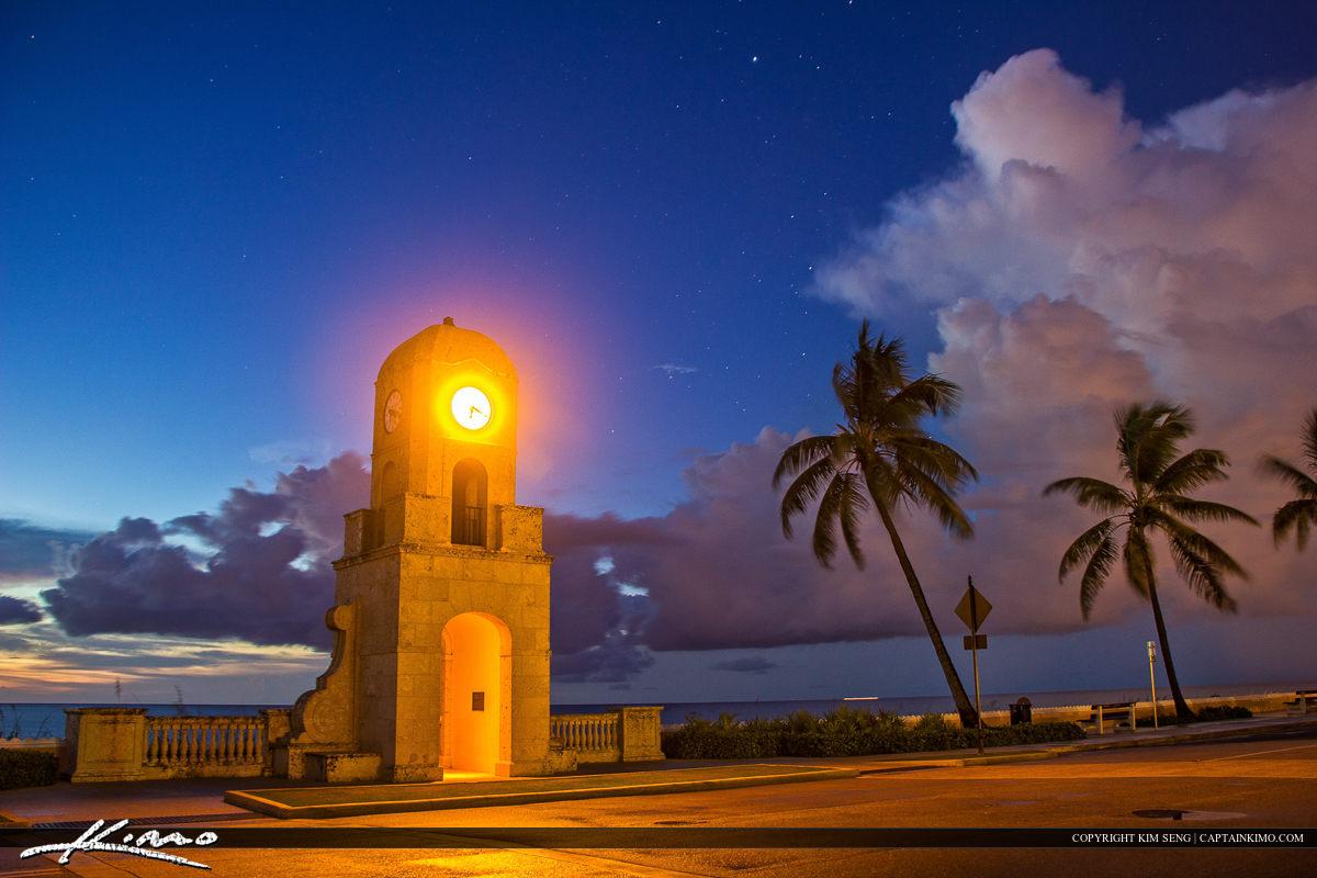Clock Tower Worth Avenue Palm Beach Island Florida