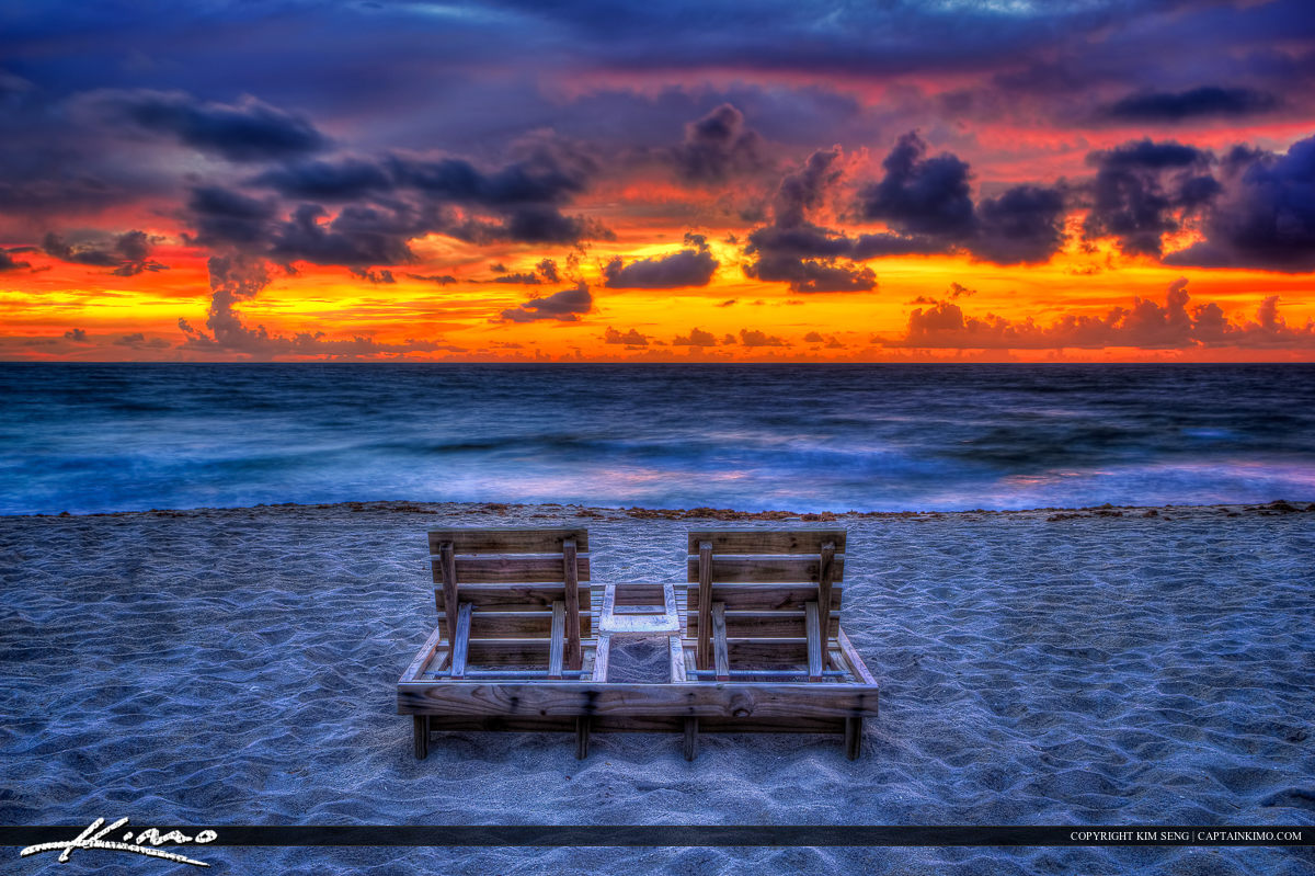 Deerfield Beach Couples Beach Chair Florida