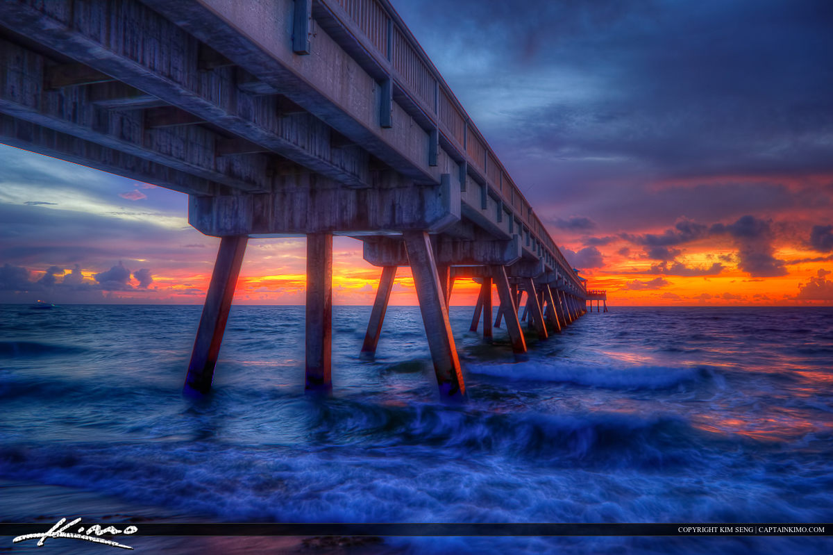 Deerfield Beach International Fishing Pier at Sunrise