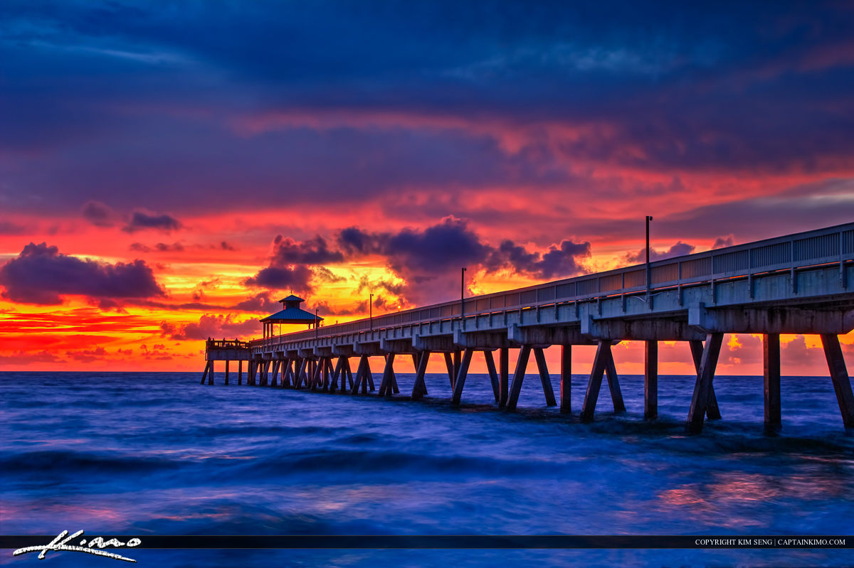 Deerfield Beach Pier HDR Image Photomatix 5.0 Beta