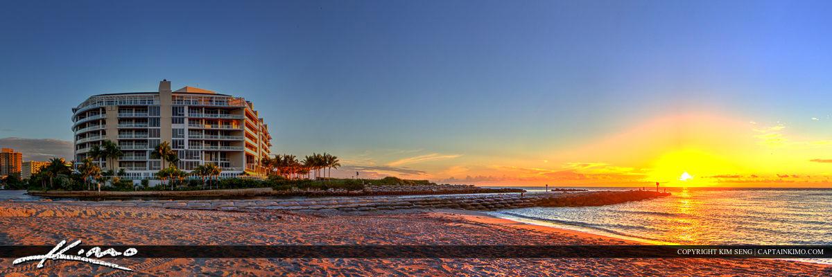 Boca Raton Condo at Jetty During Sunrise