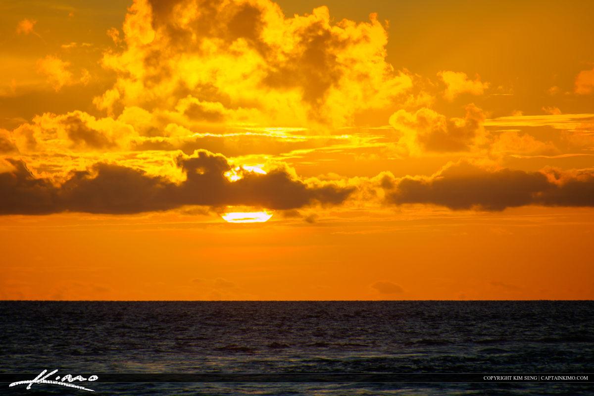 Boca Raton Sunrise Over the Atlantic Ocean