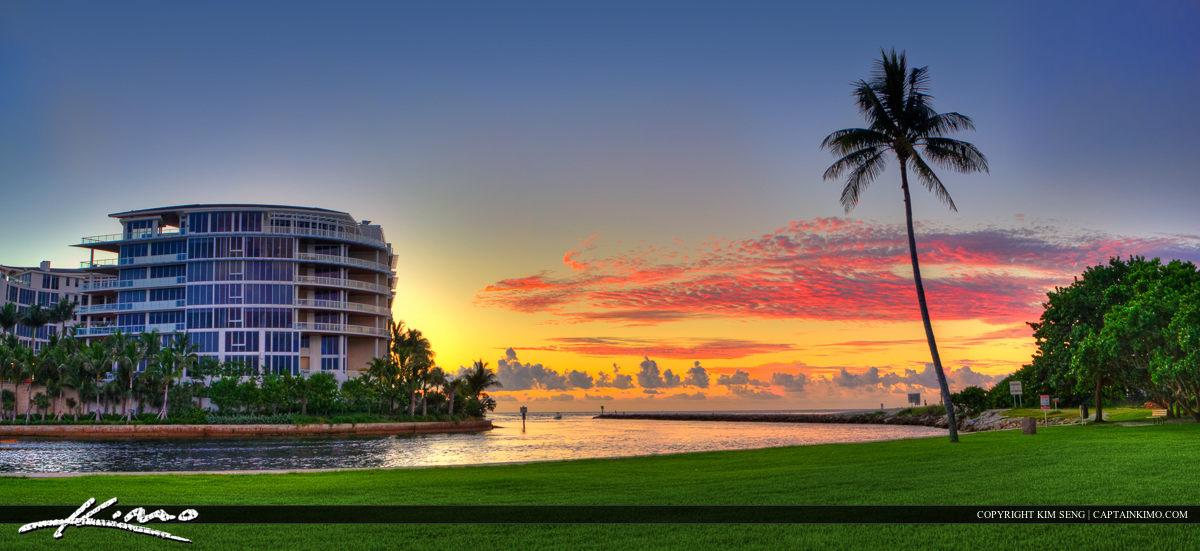 Boca Raton Inlet at South Beach Park Sunrise