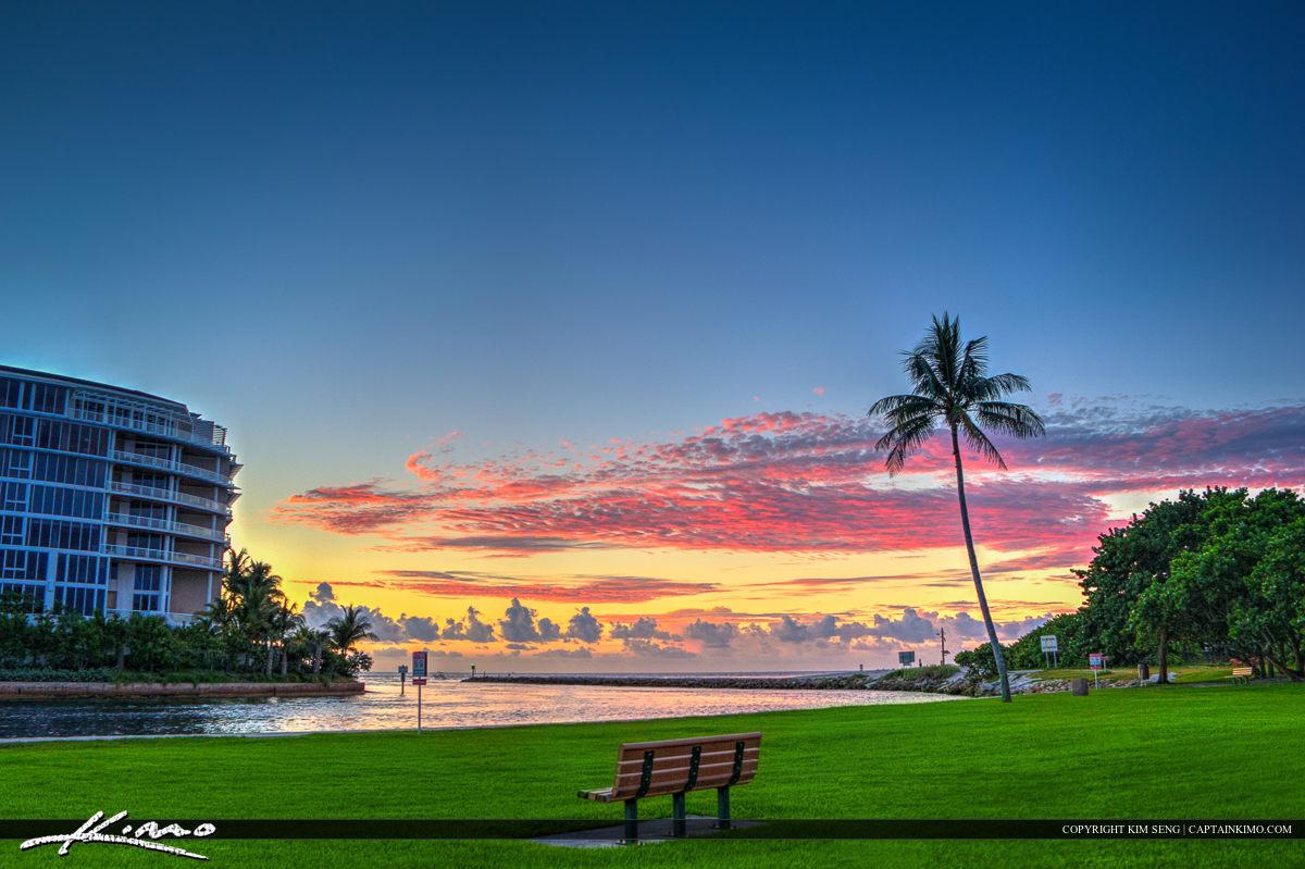 Boca Raton South Inlet Park Sunrise at Jetty