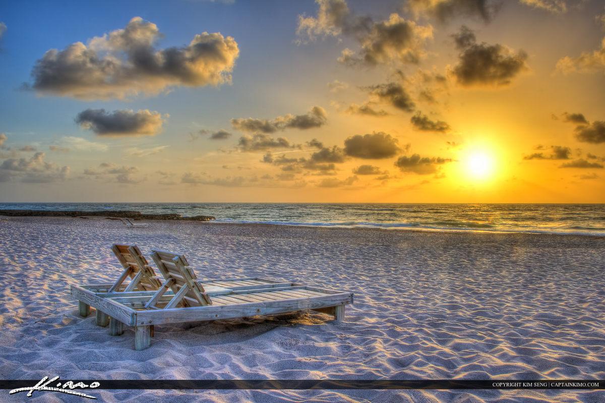Beach Chair Sunrise at Singer Island Florida