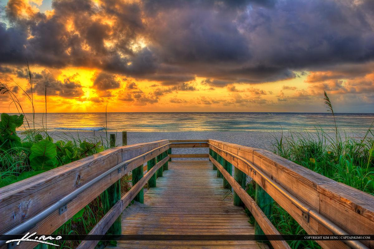 Boardwalk to Beach at Singer Island Florida