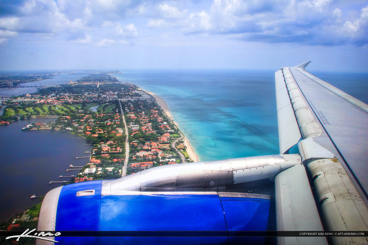 Airplane Over West Palm Beach Landing at PBI