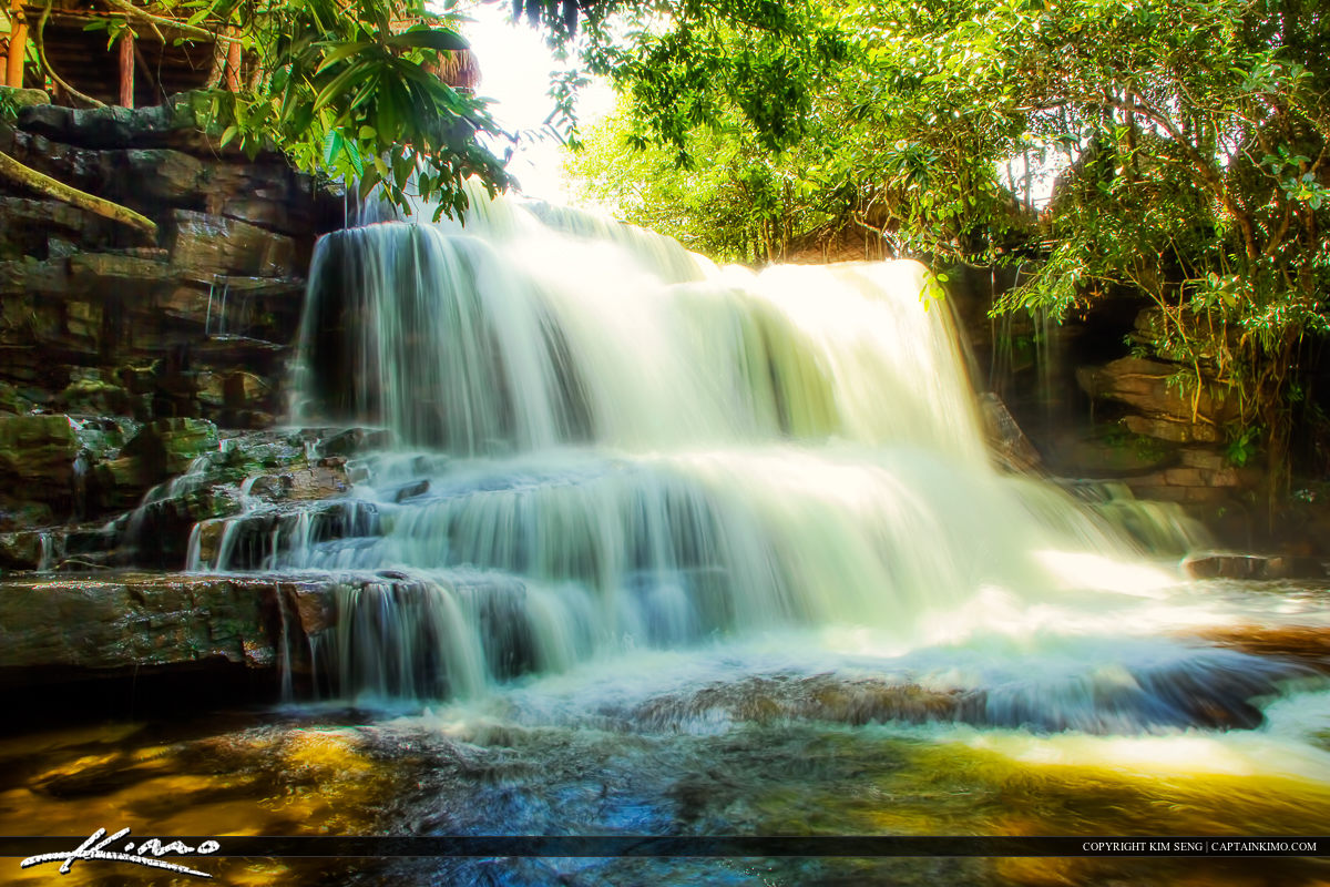 Kampong Som Waterfall in Kbal Chhay Cambodia