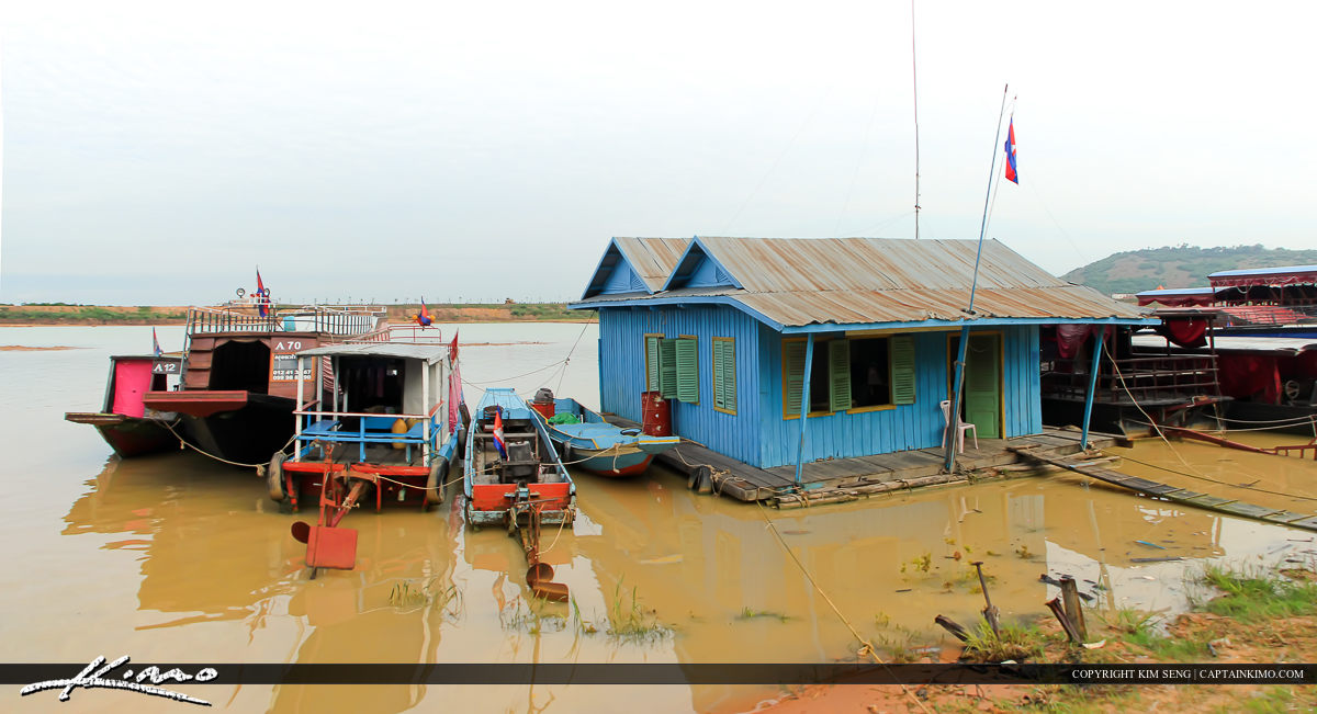Floating House at Tonle Sap in Siem Reap Cambodia