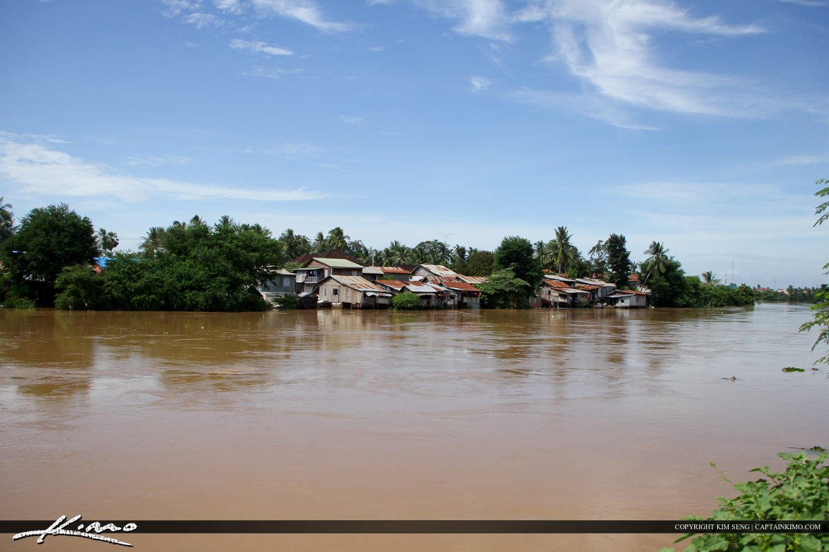 Battambang River After Two Days of Heavy Rain