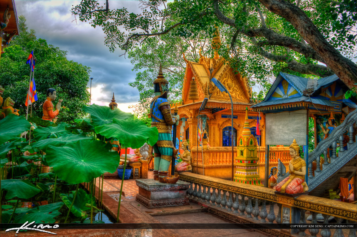 Buddist Temple at Wat Phnom Yaht Pailin Cambodia