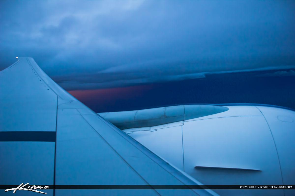 Airstream Off Turbine from Emirates Passenger Airplane Over Thailand