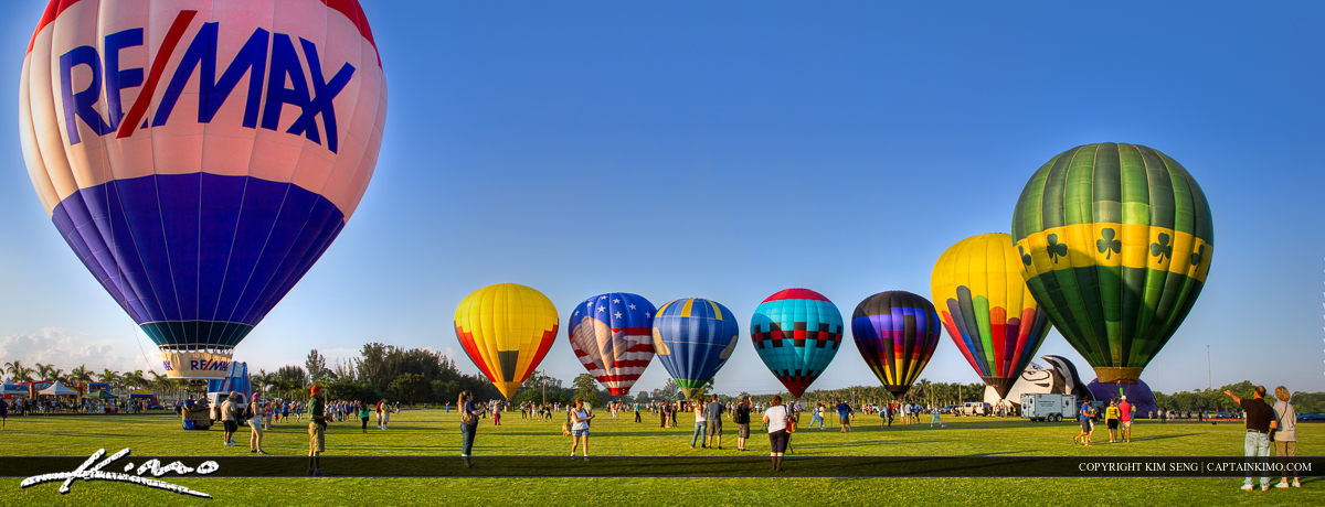 Balloon Festival 2013 at Gulfstream Polo Club