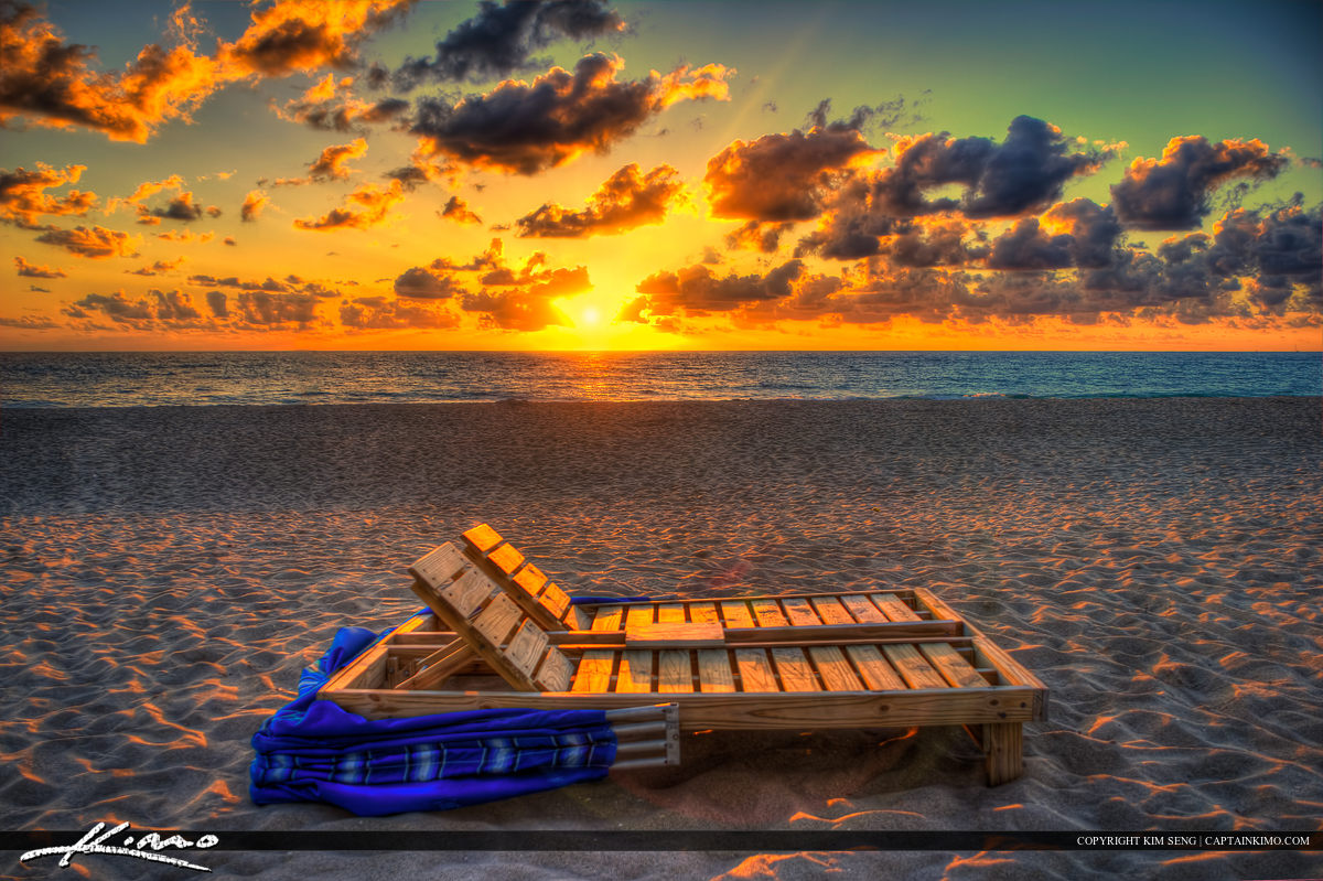 Beach Chair for Couples at Singer Island Florida