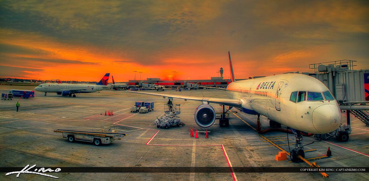 Delta Airplane at Atlanta Airport in Georgia