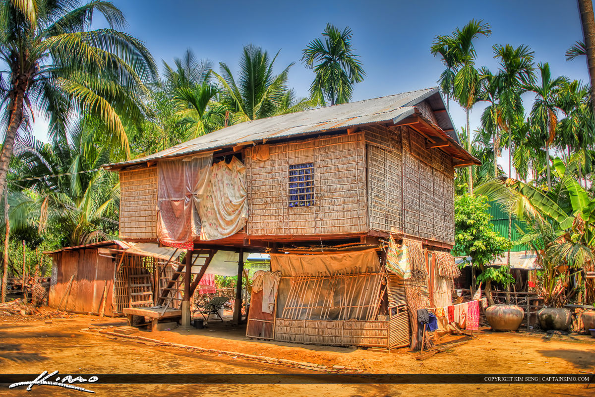 Country Living in a Straw House Battambang Cambodia