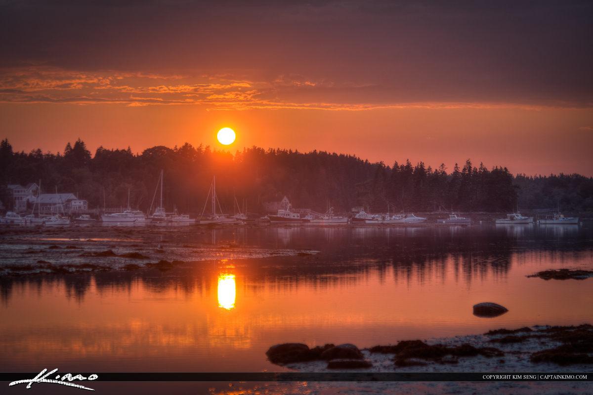 Acadia National Park Sunset Bass Harbor Maine