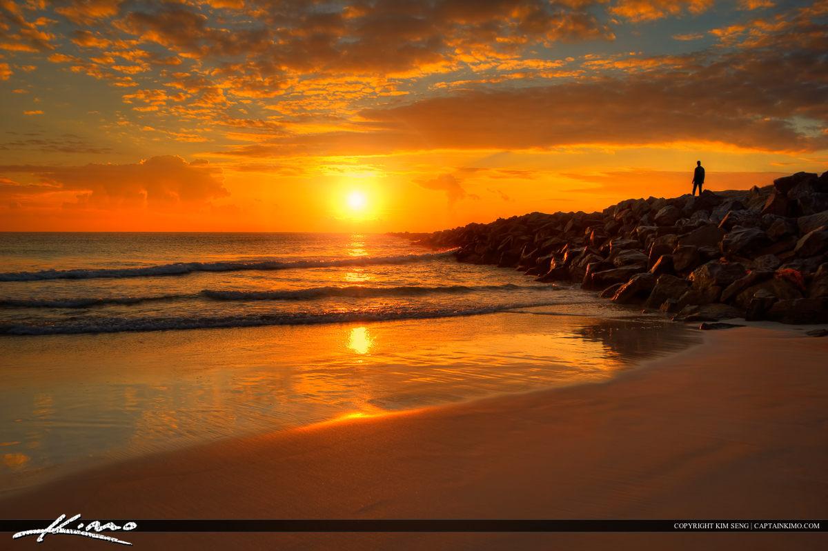Beach Sunrise South Pointe Park Miami Florida