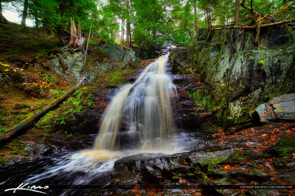 Cascade Falls in Maine Along the Saco Bay Trail