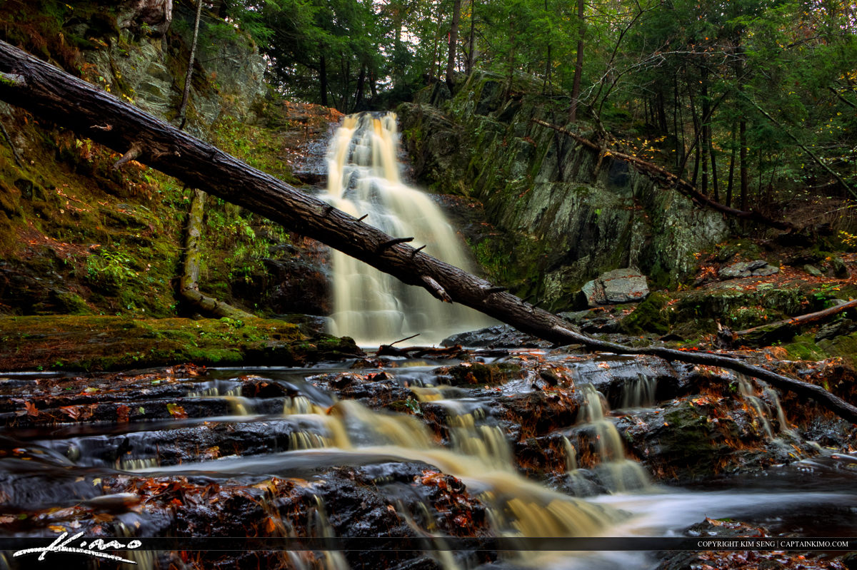 Saco Bay Trail Cascade Falls in Maine
