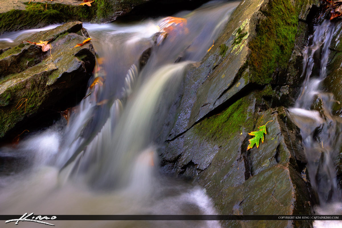 Jewell Falls at Fore River Sanctuary in Portland Maine