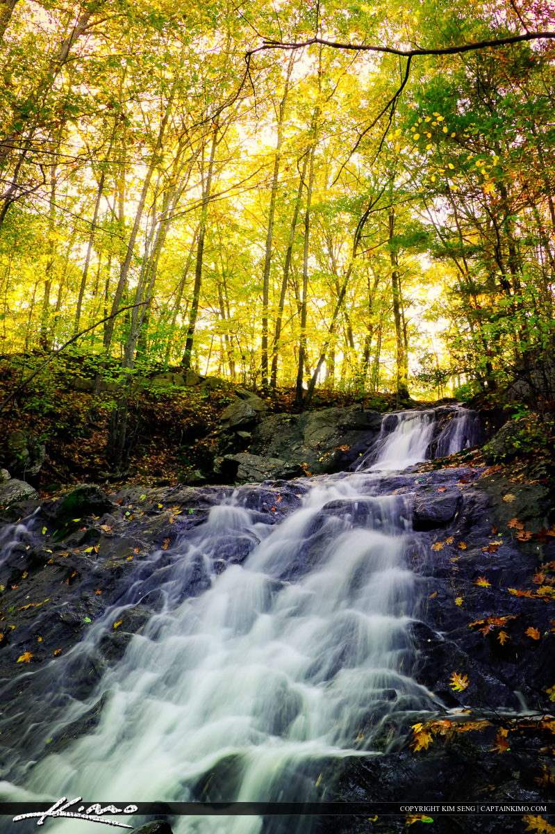 Fall Colors at Jewells Water Fall Portland Maine