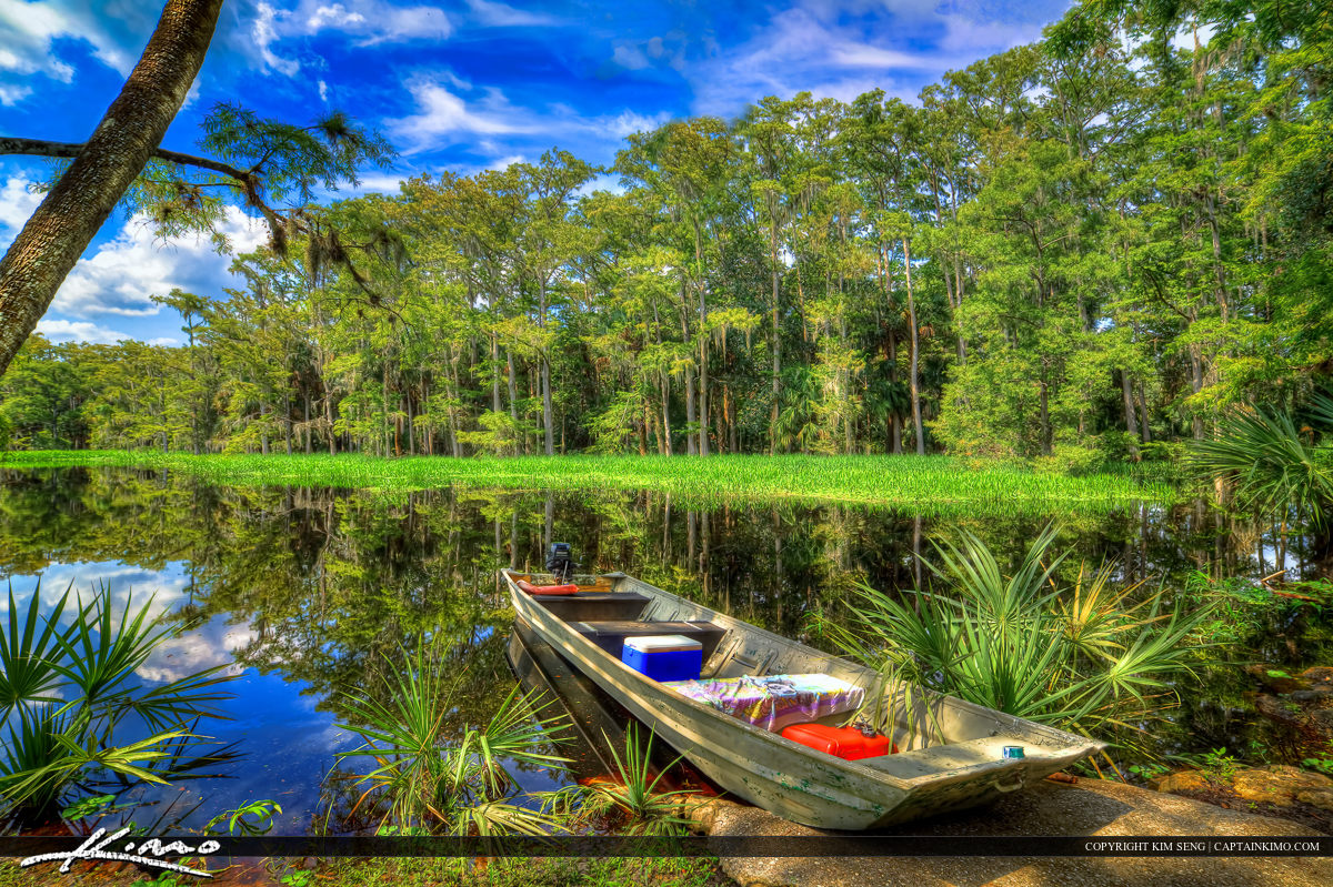 Boat at River Fisheating Creek Outpost Palmdale Florida